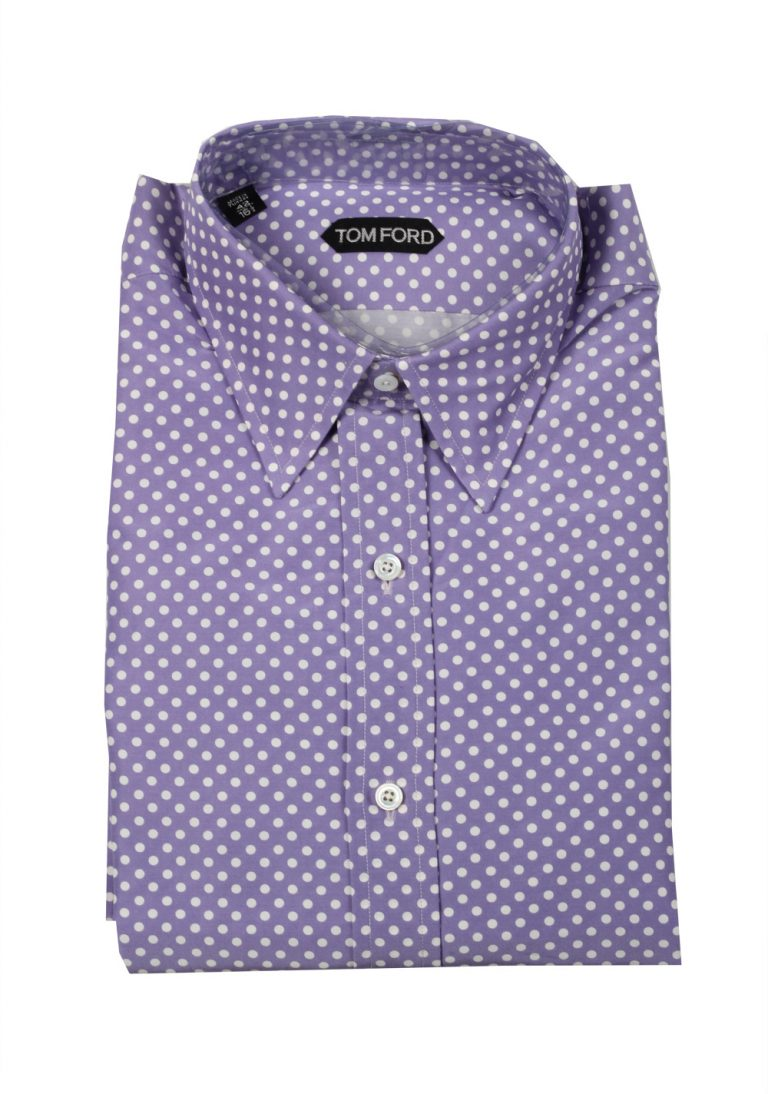 TOM FORD Patterned Lilac Dress Shirt Size 42 / 16,5 U.S. - thumbnail | Costume Limité