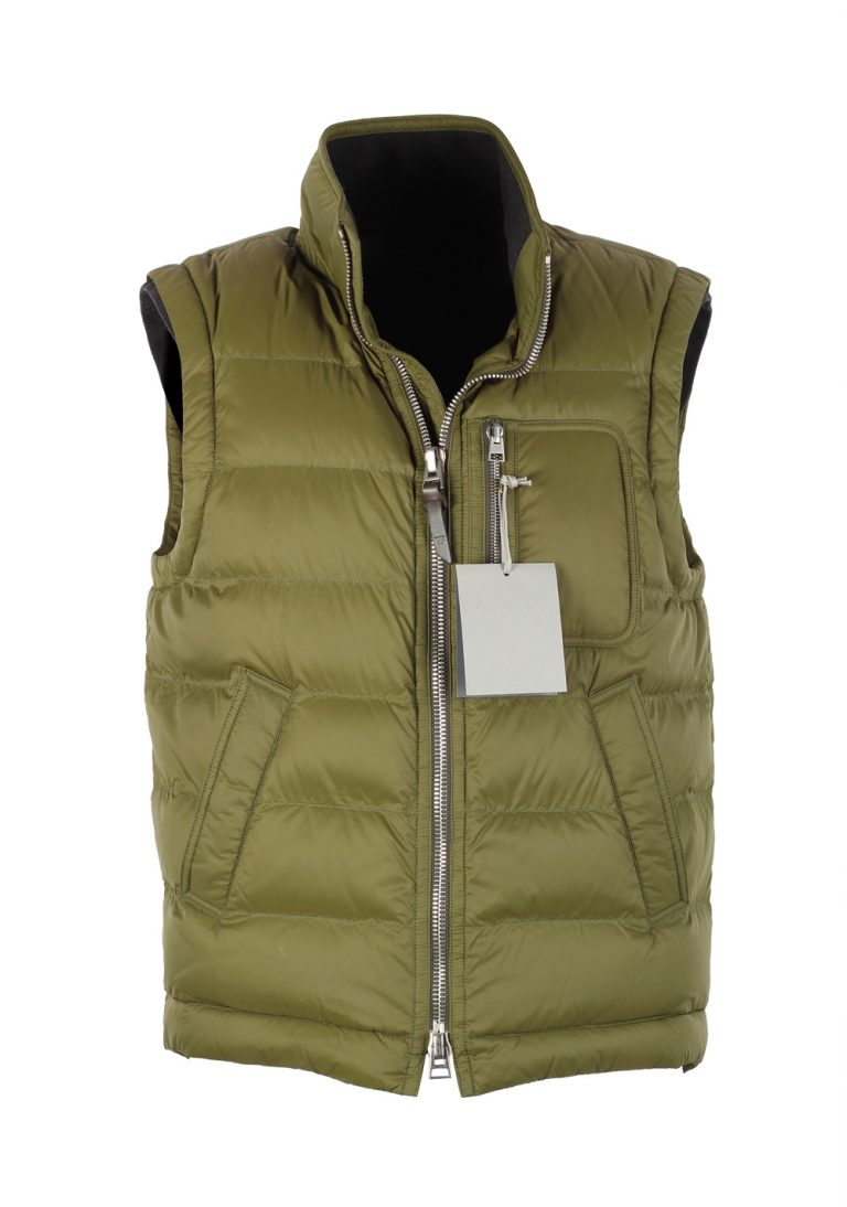 TOM FORD Green Quilted Shell Down Gilet Vest Size 48 / 38R U.S. Outerwear - thumbnail | Costume Limité