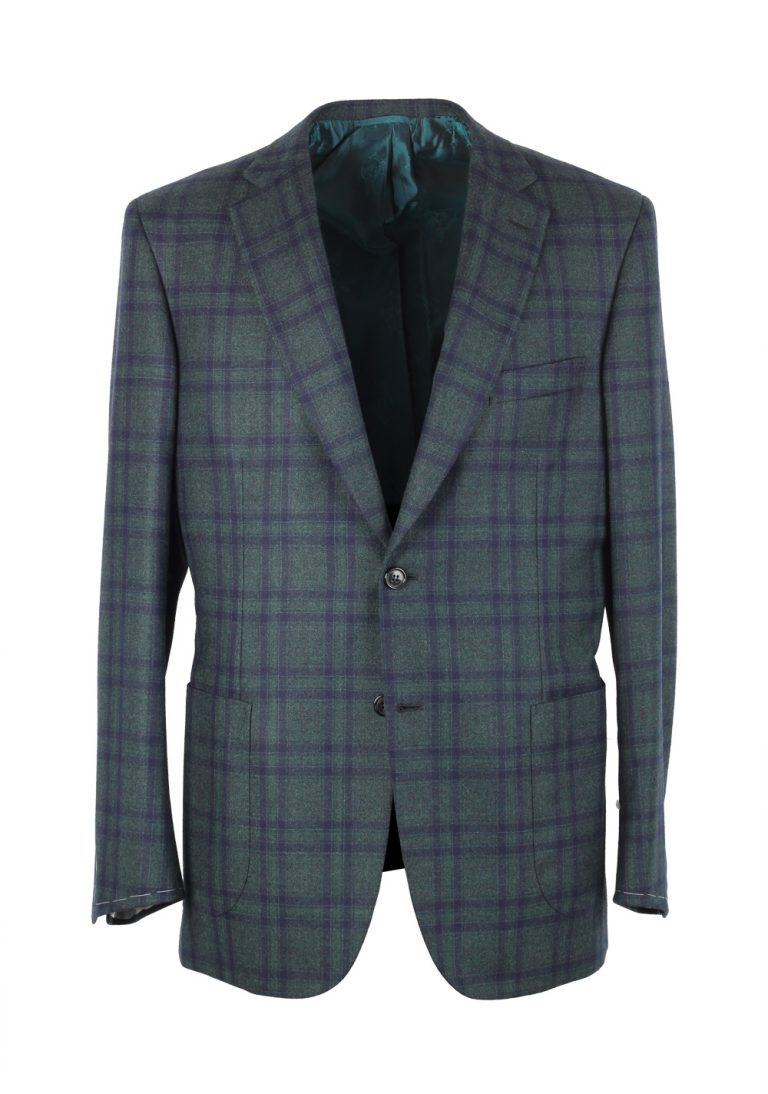 Brioni Green Checked Brunico Sport Coat Size 50 / 40R U.S. - thumbnail | Costume Limité
