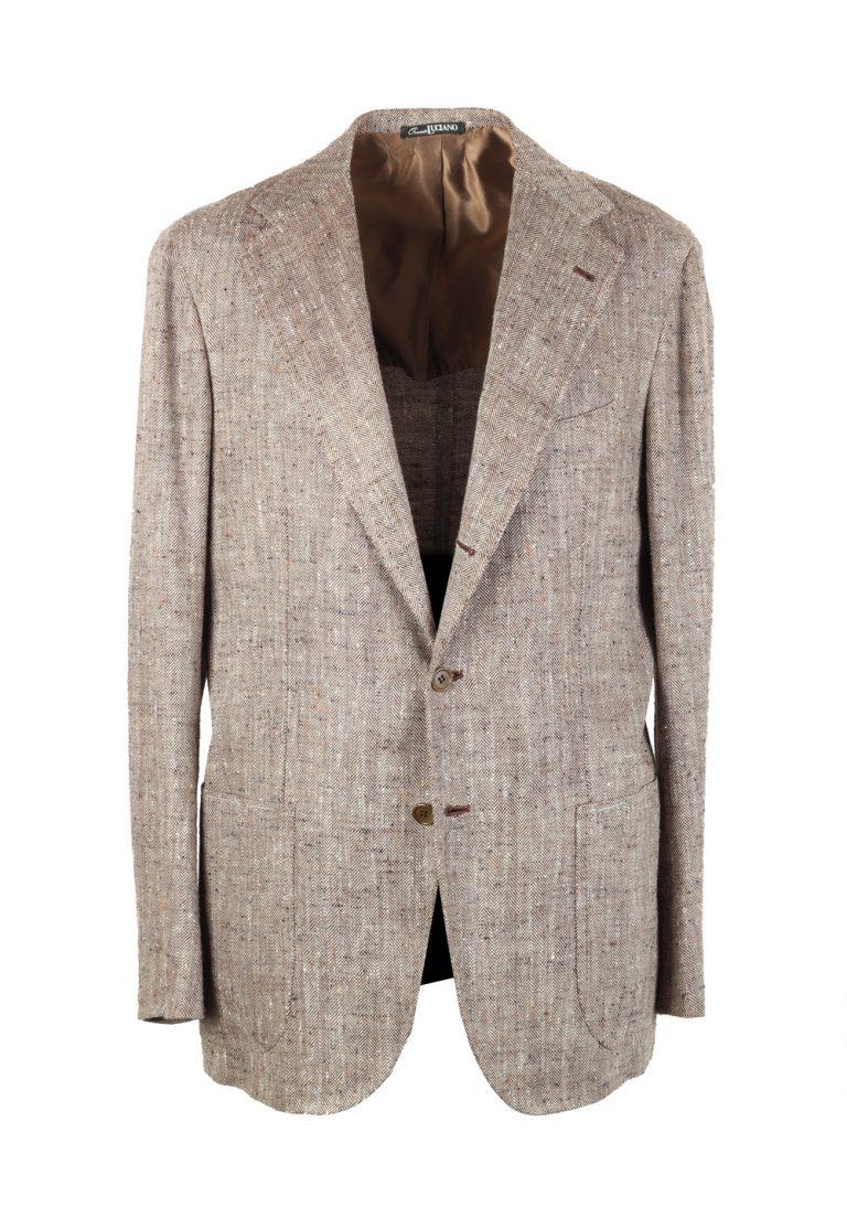 Orazio Luciano Beige Sport Coat Size 50 / 40R U.S. In Linen Silk - thumbnail | Costume Limité