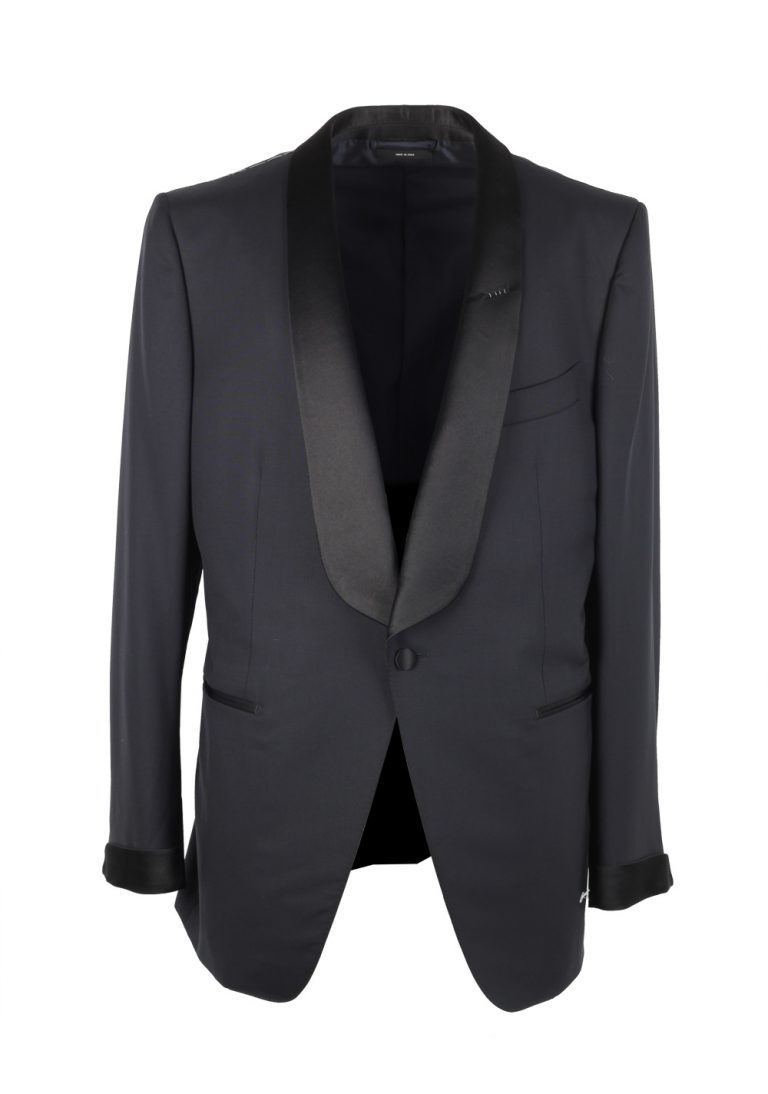 TOM FORD O'Connor Shawl Collar Midnight Blue Sport Coat Tuxedo Dinner Jacket Size 54 / 44R U.S. Fit Y - thumbnail | Costume Limité