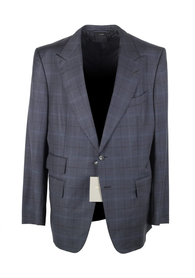 TOM FORD Blue Checked Sport Coat Size 54 / 44R U.S. In Wool - thumbnail | Costume Limité