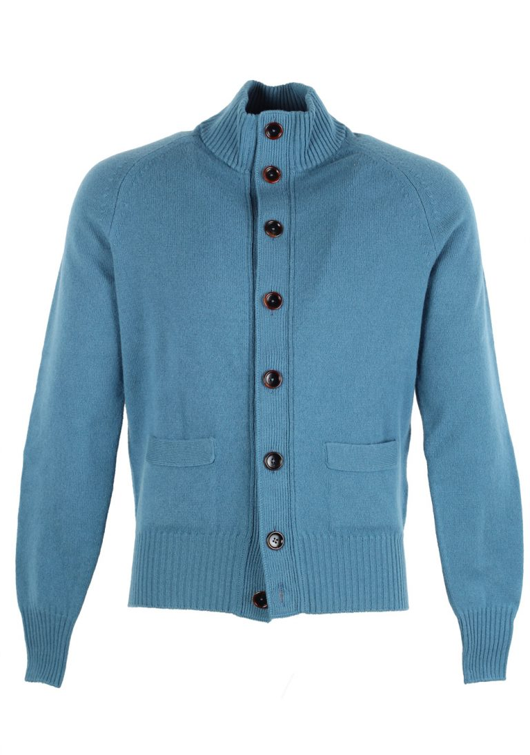 TOM FORD Teal Cardigan Size 50 / 40R U.S. In Wool - thumbnail | Costume Limité