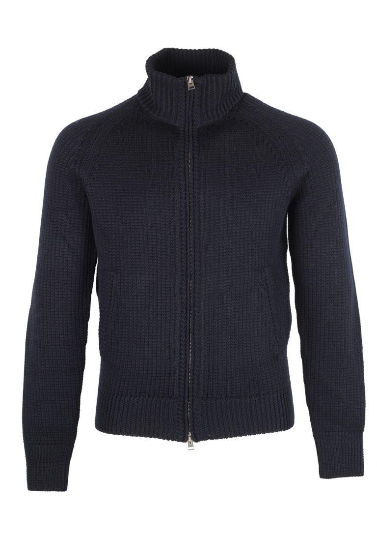 TOM FORD Blue Zipper Cardigan Size 48 / 38R U.S. In Wool - thumbnail | Costume Limité