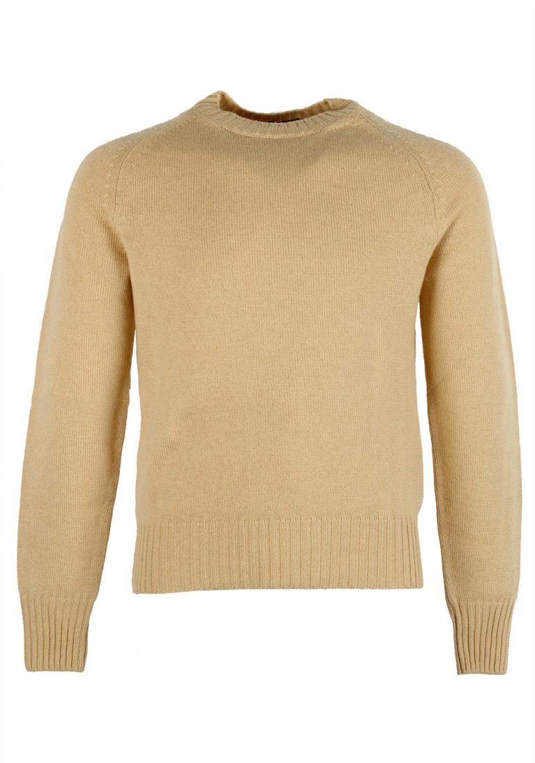 TOM FORD Yellow Crew Neck Sweater Size 48 / 38R U.S. In Cashmere Linen - thumbnail | Costume Limité