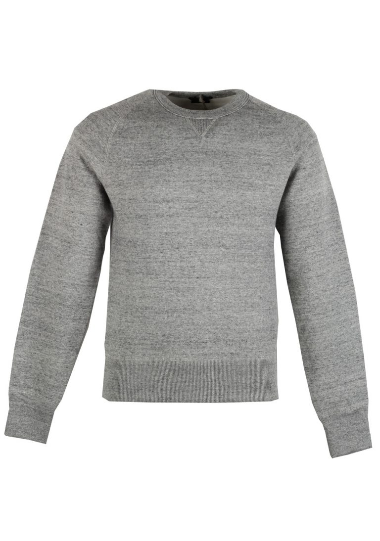 TOM FORD Gray Crew Neck Jersey Sweater Size 48 / 38R U.S. In Cotton - thumbnail | Costume Limité