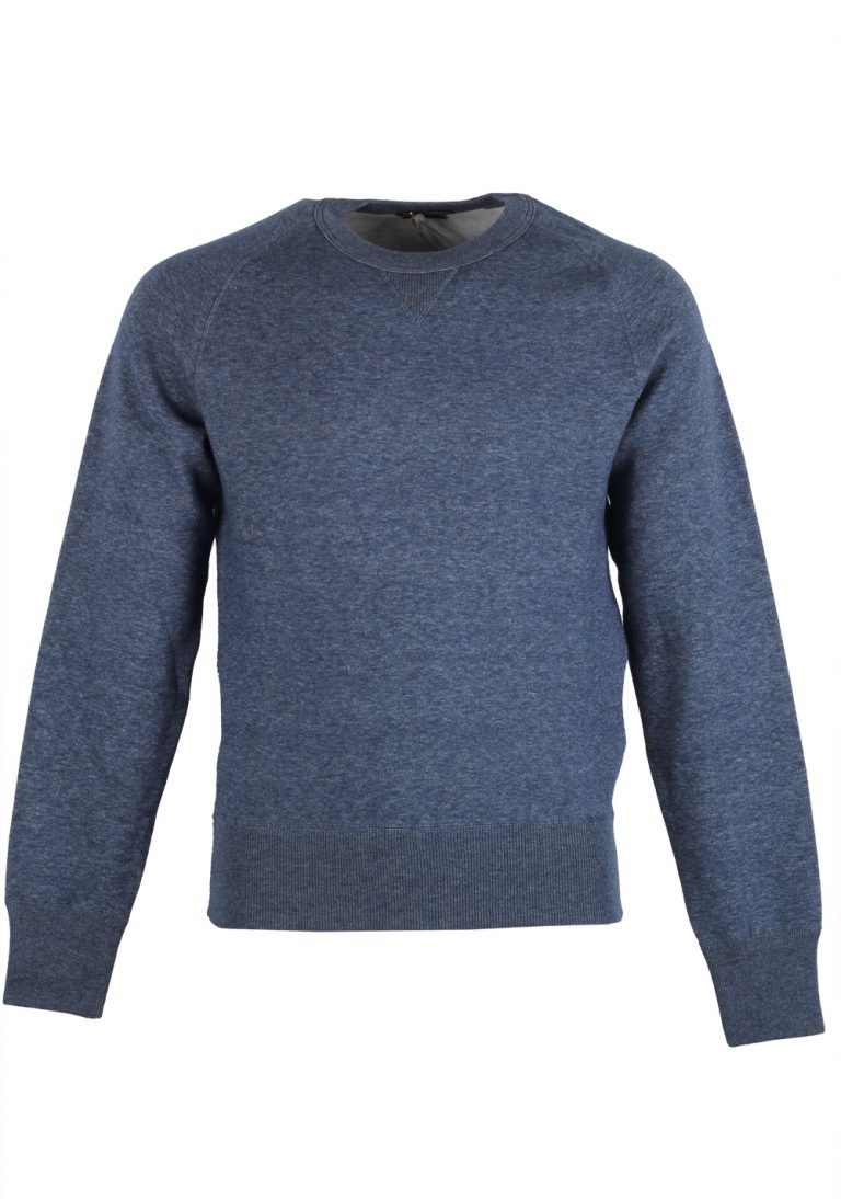 TOM FORD Blue Crew Neck Jersey Sweater Size 48 / 38R U.S. In Cotton - thumbnail | Costume Limité