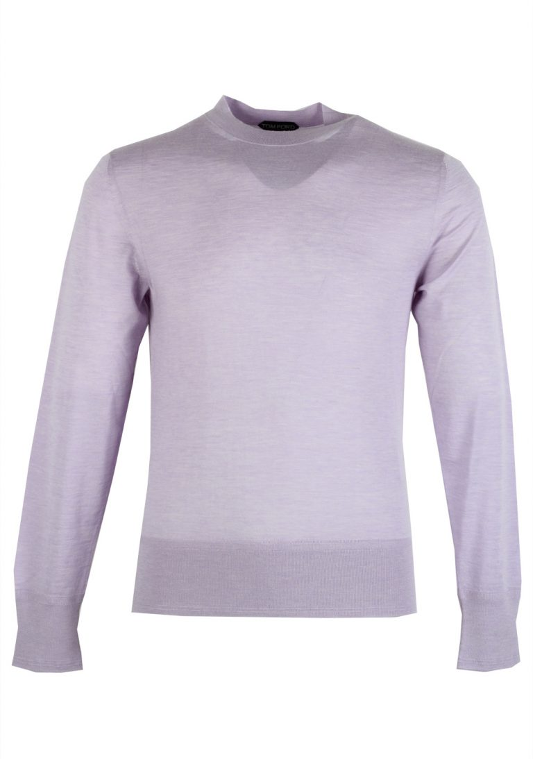 TOM FORD Lilac Crew Neck Sweater Size 48 / 38R U.S. In Cashmere - thumbnail | Costume Limité