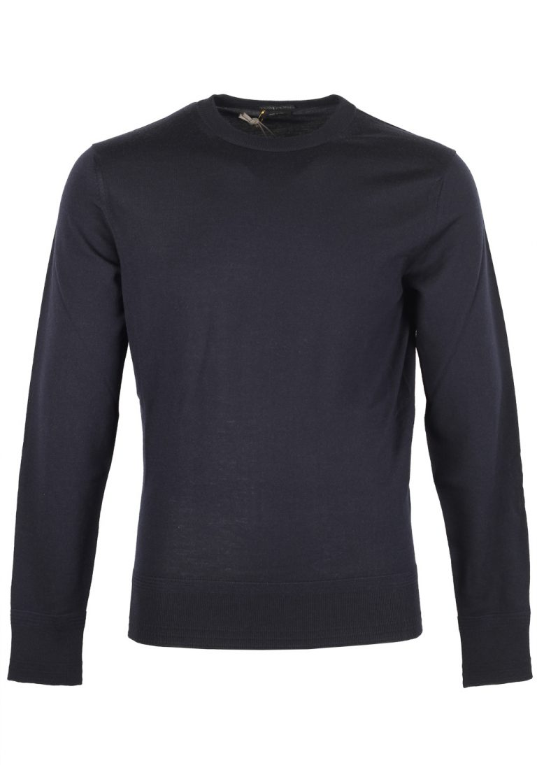 TOM FORD Blue Crew Neck Sweater Size 48 / 38R U.S. In Cashmere - thumbnail | Costume Limité