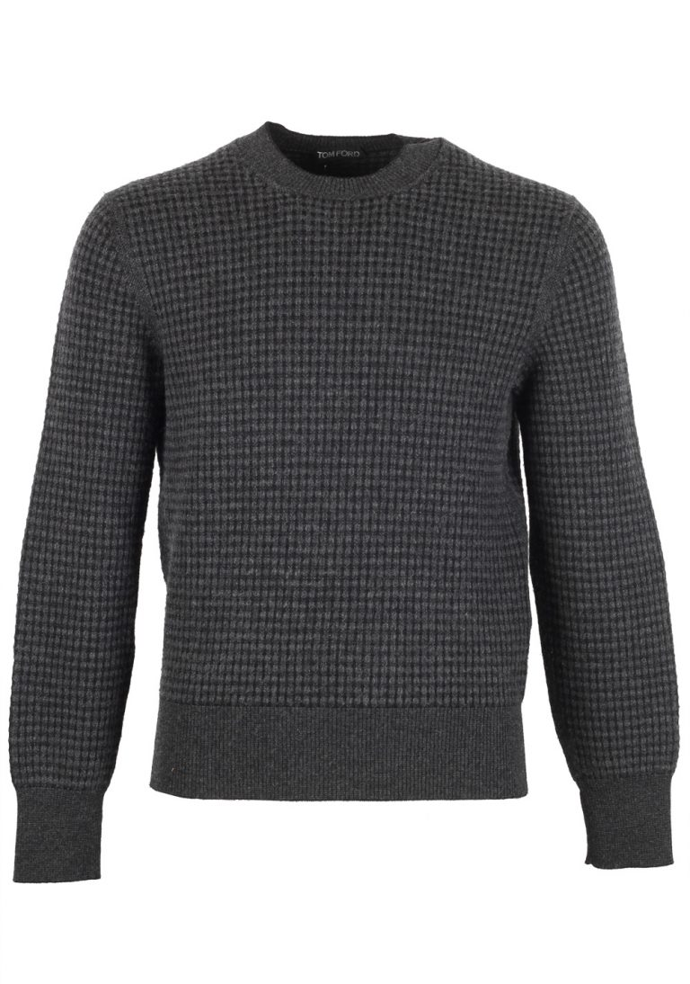 TOM FORD Gray Crew Neck Sweater Size 48 / 38R U.S. In Wool Cashmere - thumbnail | Costume Limité