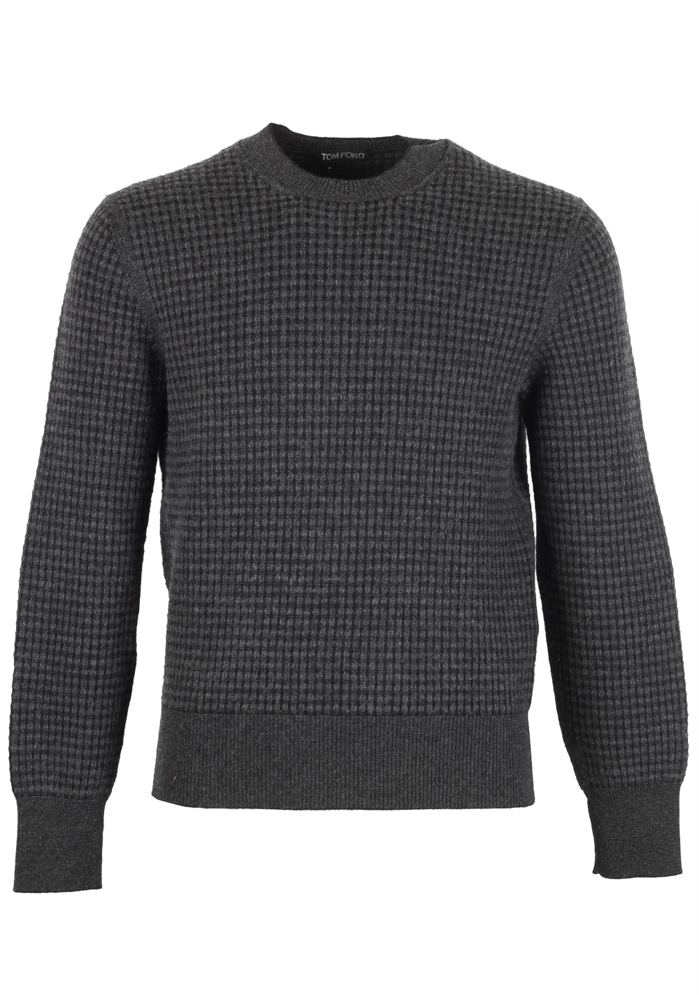 TOM FORD Gray Crew Neck Sweater Size 48 / 38R U.S. In Wool Cashmere | Costume Limité