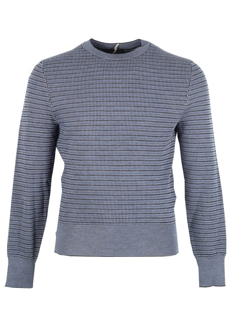 TOM FORD Blue Crew Neck Sweater Size 48 / 38R U.S. In Wool Silk - thumbnail | Costume Limité