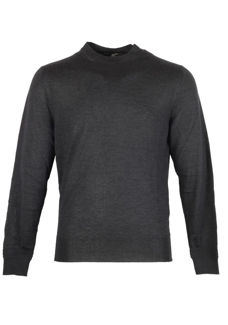 TOM FORD Gray Crew Neck Sweater Size 48 / 38R U.S. In Wool Silk - thumbnail | Costume Limité