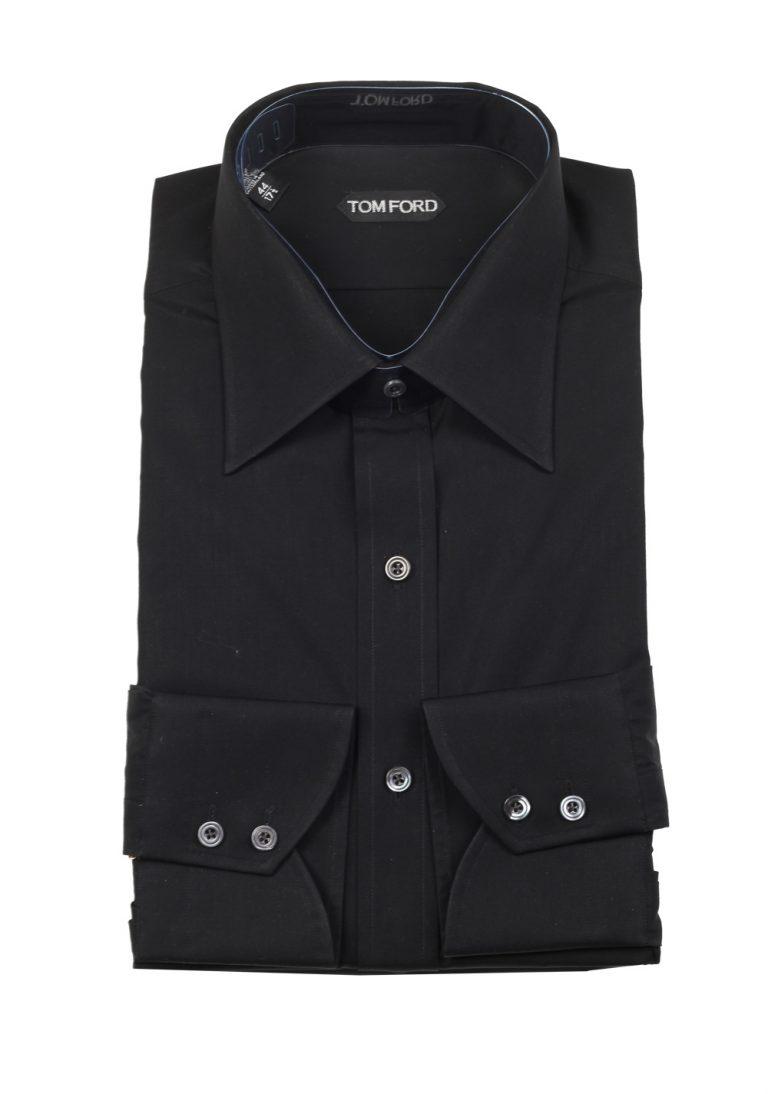TOM FORD Solid Black Dress Shirt Size 44 / 17,5 U.S. - thumbnail   Costume Limité