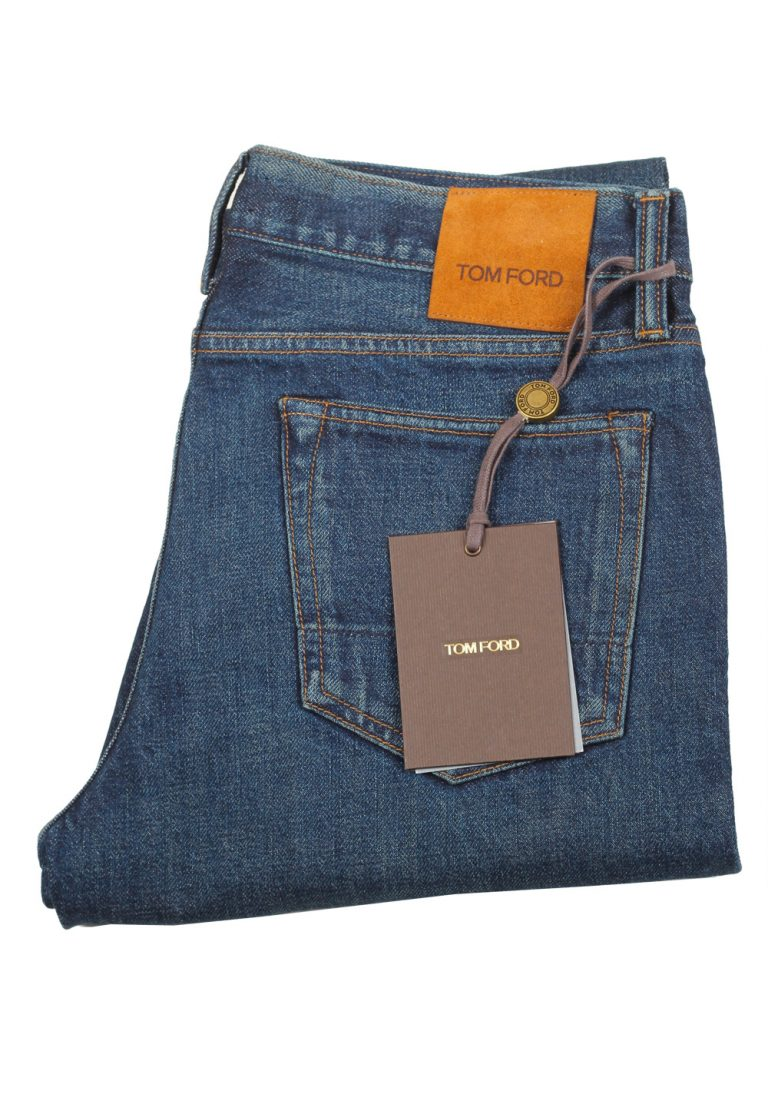 TOM FORD Blue Slim Fit Jeans TFD001 Size 56 / 40 U.S. - thumbnail | Costume Limité