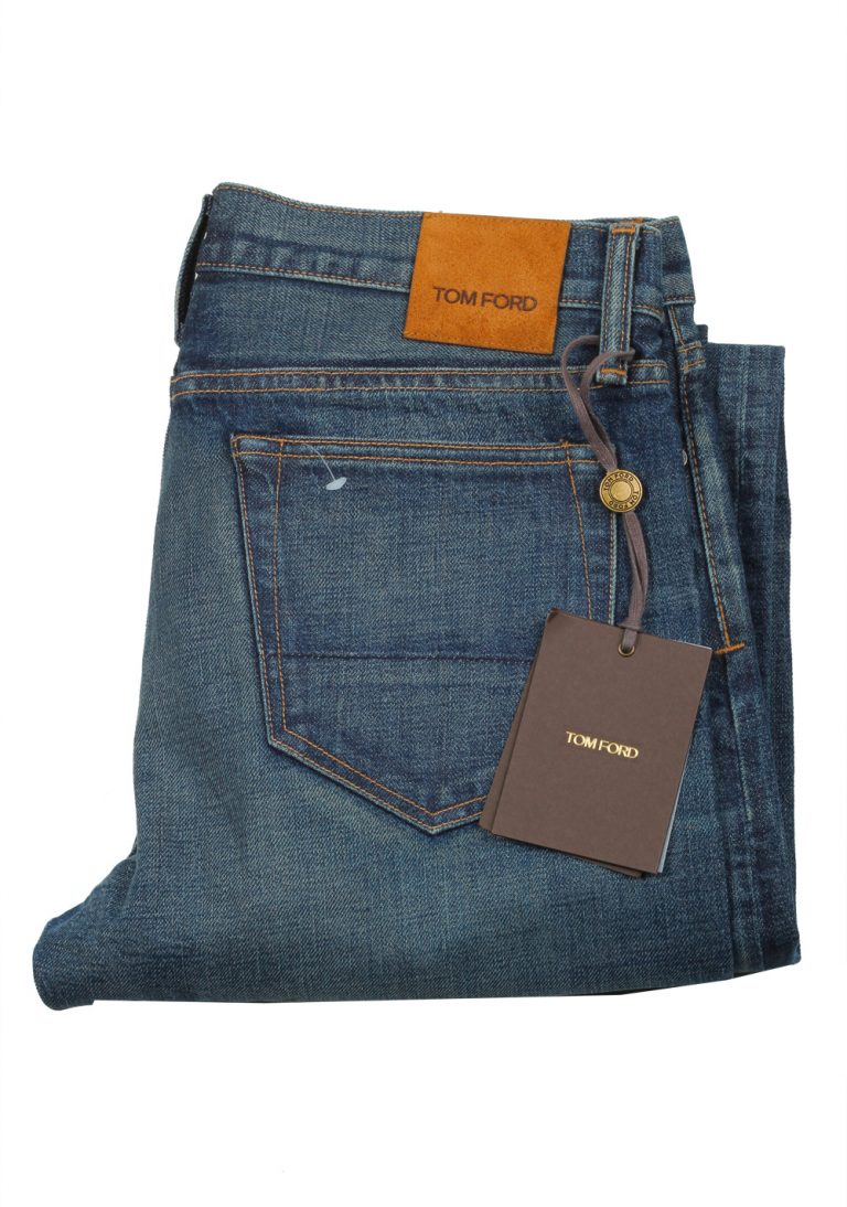 TOM FORD Blue Slim Fit Jeans TFD001 Size 50 / 34 U.S. - thumbnail | Costume Limité