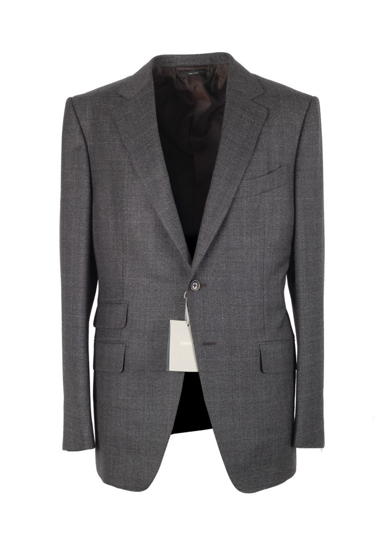 TOM FORD O'Connor Checked Gray Suit Size 50 / 40R U.S. In Wool - thumbnail | Costume Limité