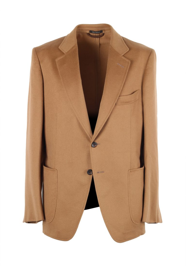 TOM FORD O'Connor Camel Sport Coat Size 58 / 48R U.S. In Cashmere - thumbnail | Costume Limité