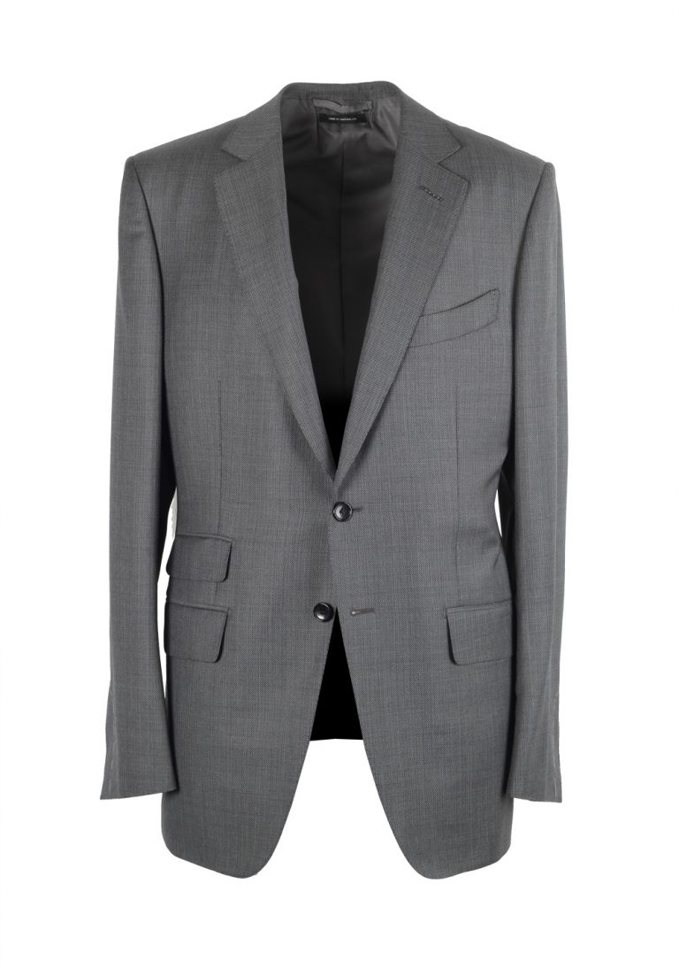 TOM FORD O'Connor Gray Suit Size 50L / 40L U.S. Wool Fit Y - thumbnail | Costume Limité