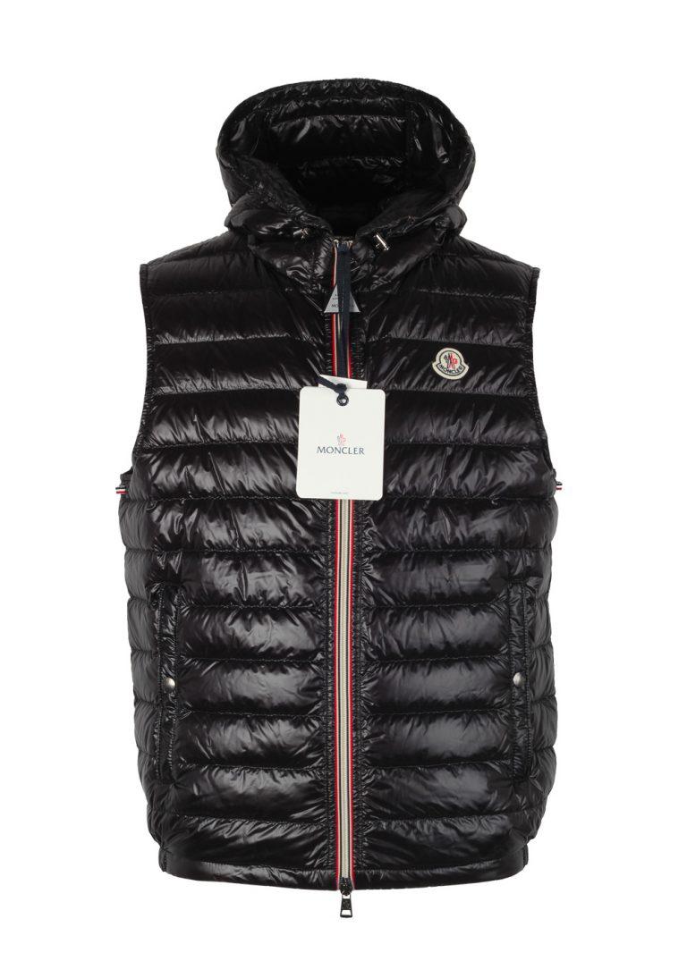 Moncler Black Gien Hooded Shell Gilet Vest Size 2 / M / 48 / 38R U.S. - thumbnail | Costume Limité