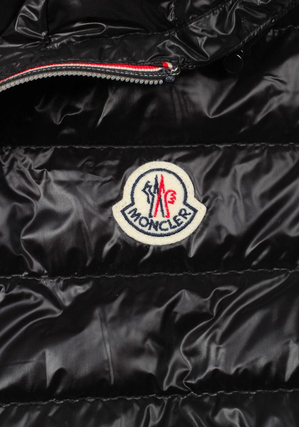 Moncler Black Gien Hooded Shell Gilet Vest Size 2 / M / 48 / 38R U.S. | Costume Limité