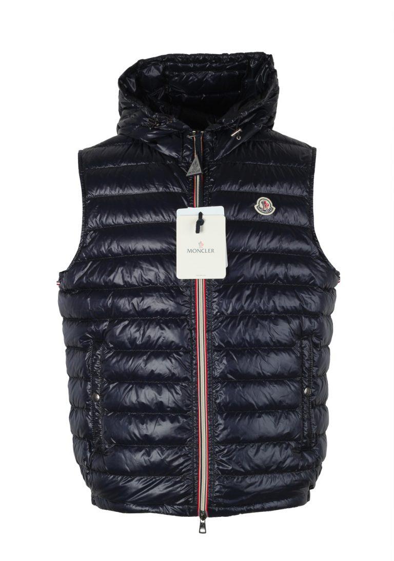 Moncler Blue Gien Hooded Shell Gilet Vest Size 5 / XL / 54 / 44 U.S. - thumbnail | Costume Limité