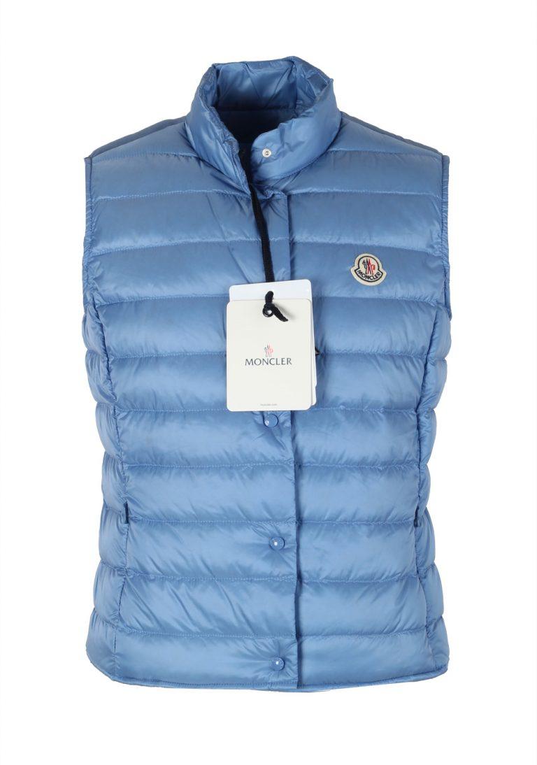 Moncler Blue Liane Shell Gilet Vest Size 3 / M / 50 / 40 U.S. - thumbnail | Costume Limité