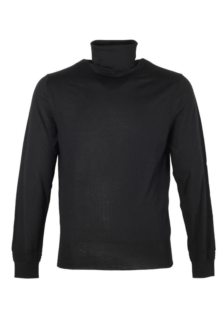TOM FORD Black Turtleneck Sweater Size 48 / 38R U.S. In Cashmere Silk - thumbnail | Costume Limité