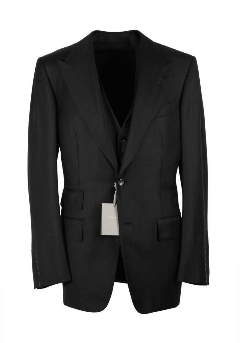 TOM FORD Windsor Black 3 Piece Suit Size 56L / 46L U.S. Wool Fit A - thumbnail | Costume Limité
