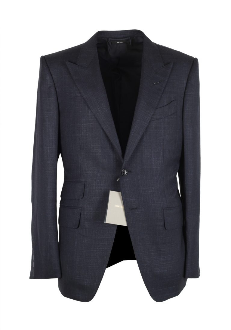TOM FORD O'Connor Blue Suit Size 48 / 38R U.S. Wool Silk Fit Y - thumbnail | Costume Limité