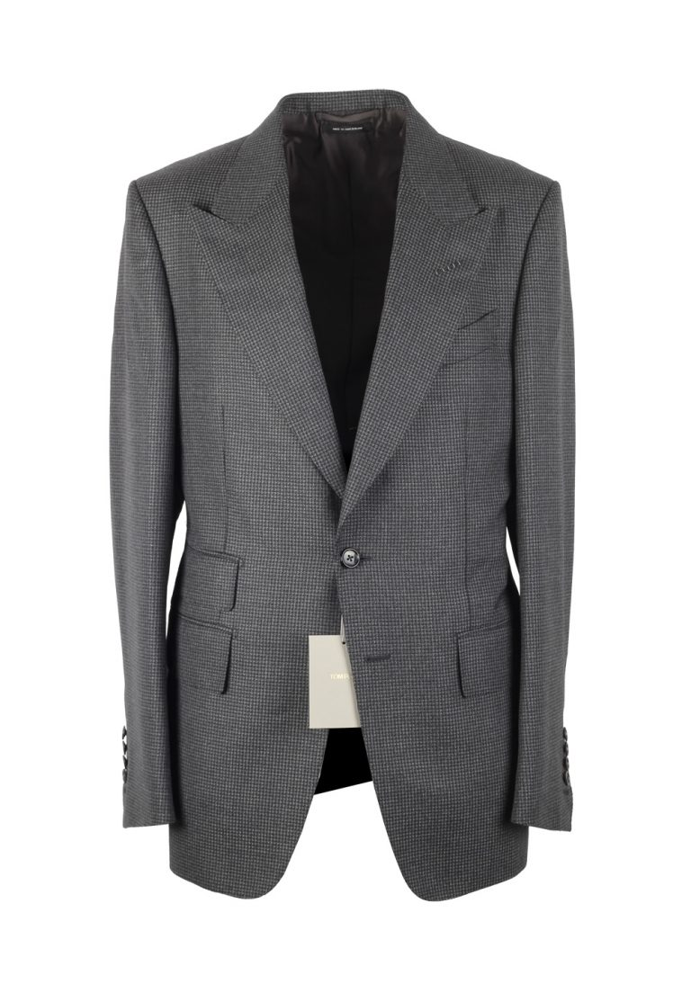 TOM FORD Shelton Gray Suit Size 48 / 38R U.S. In Mohair Wool - thumbnail | Costume Limité