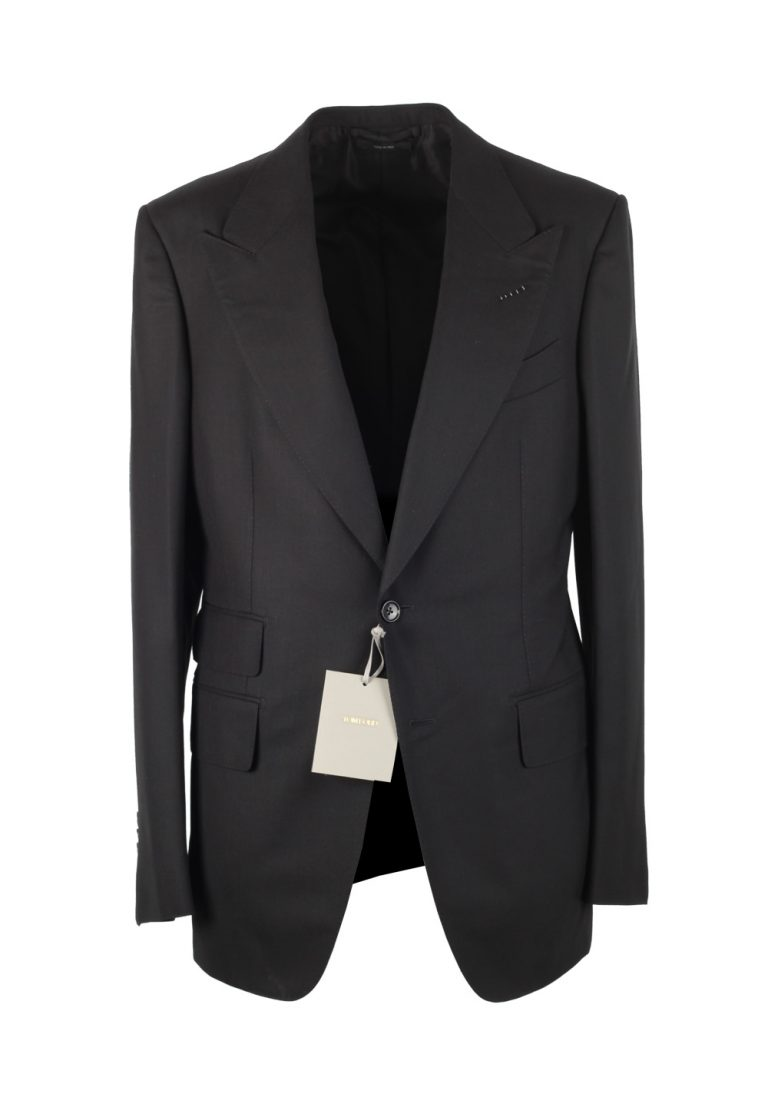 TOM FORD Shelton Black Suit Size 48 / 38R U.S. In Wool - thumbnail | Costume Limité