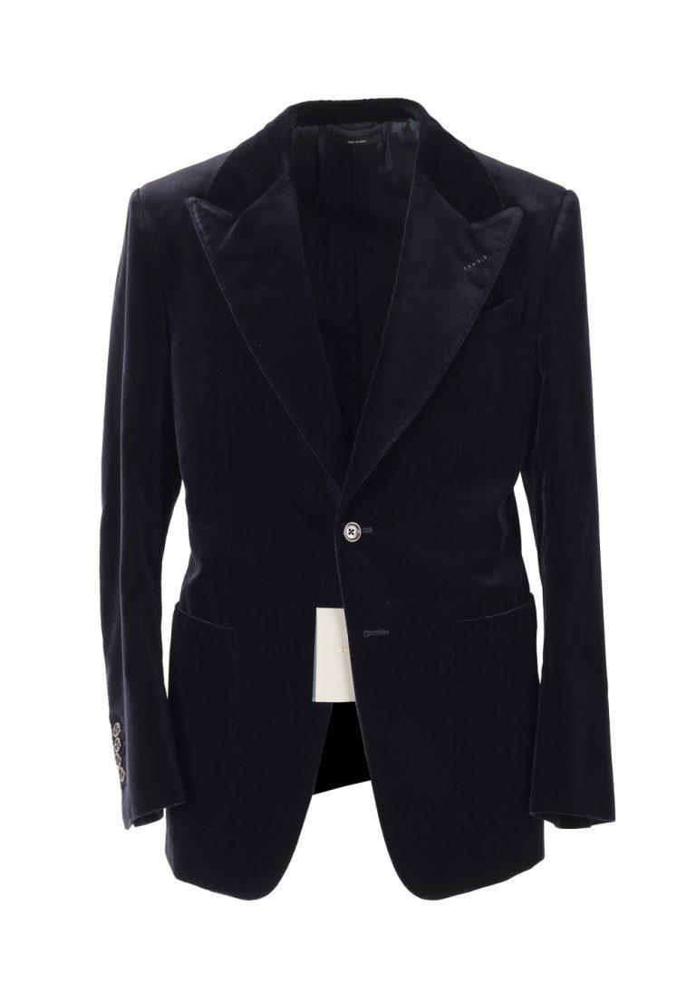 TOM FORD Shelton Black Velvet Sport Coat Tuxedo Dinner Jacket Size 48 / 38R U.S. - thumbnail | Costume Limité