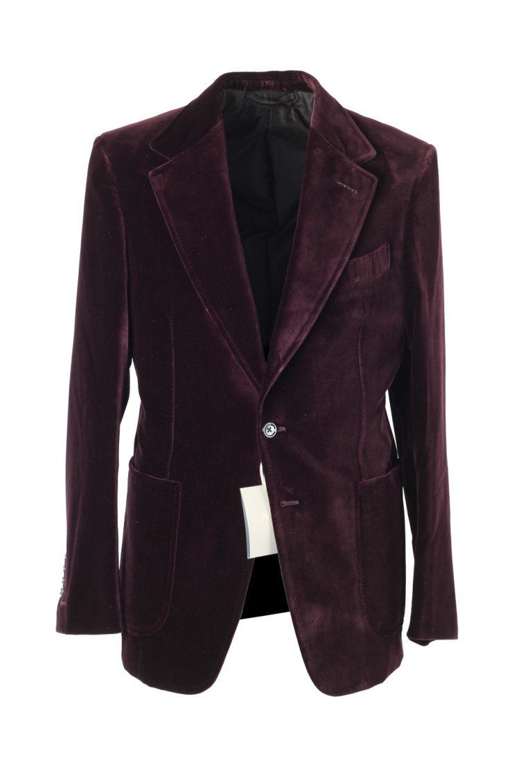 TOM FORD Shelton Aubergine Velvet Sport Coat Tuxedo Dinner Jacket Size 48 / 38R U.S. - thumbnail | Costume Limité