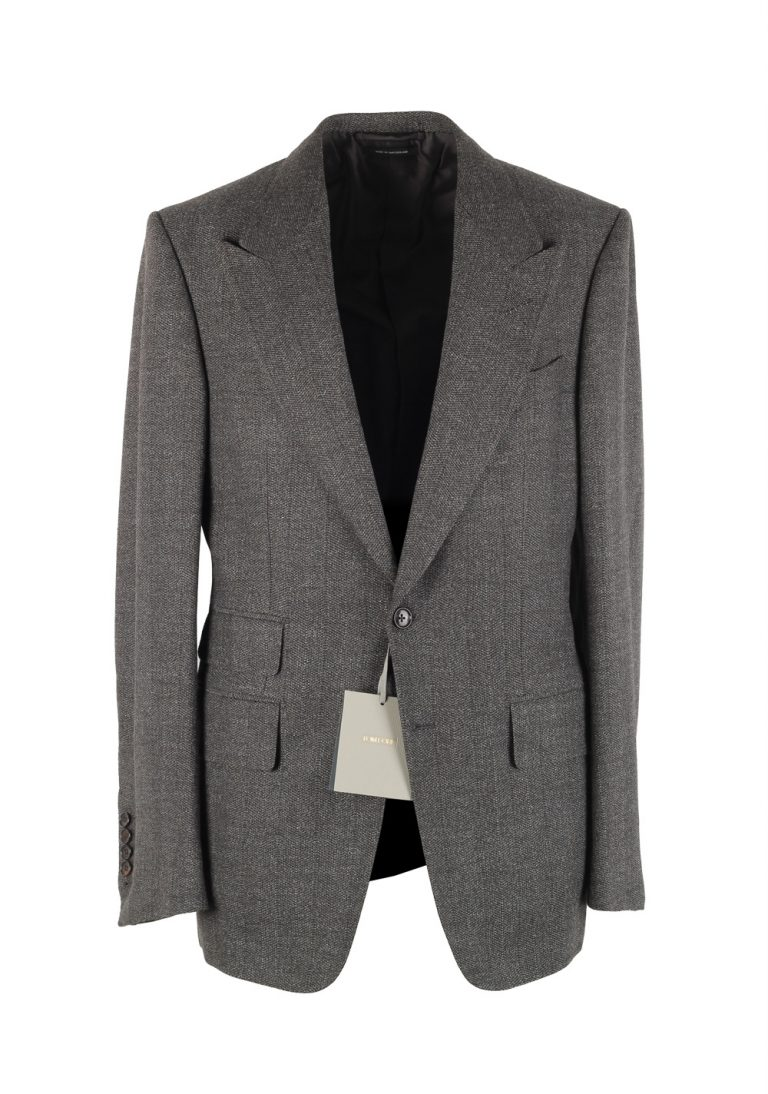 TOM FORD Shelton Gray Sport Coat Size 48 / 38R U.S. In Wool Alpaca Cashmere - thumbnail | Costume Limité