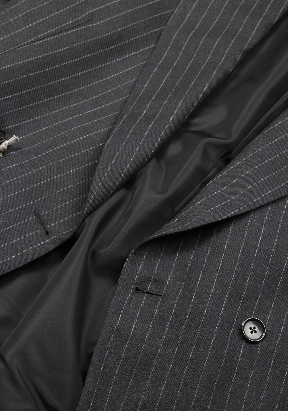 TOM FORD Shelton Double Breasted Striped Gray Sport Coat Size 48 / 38R U.S. In Wool | Costume Limité