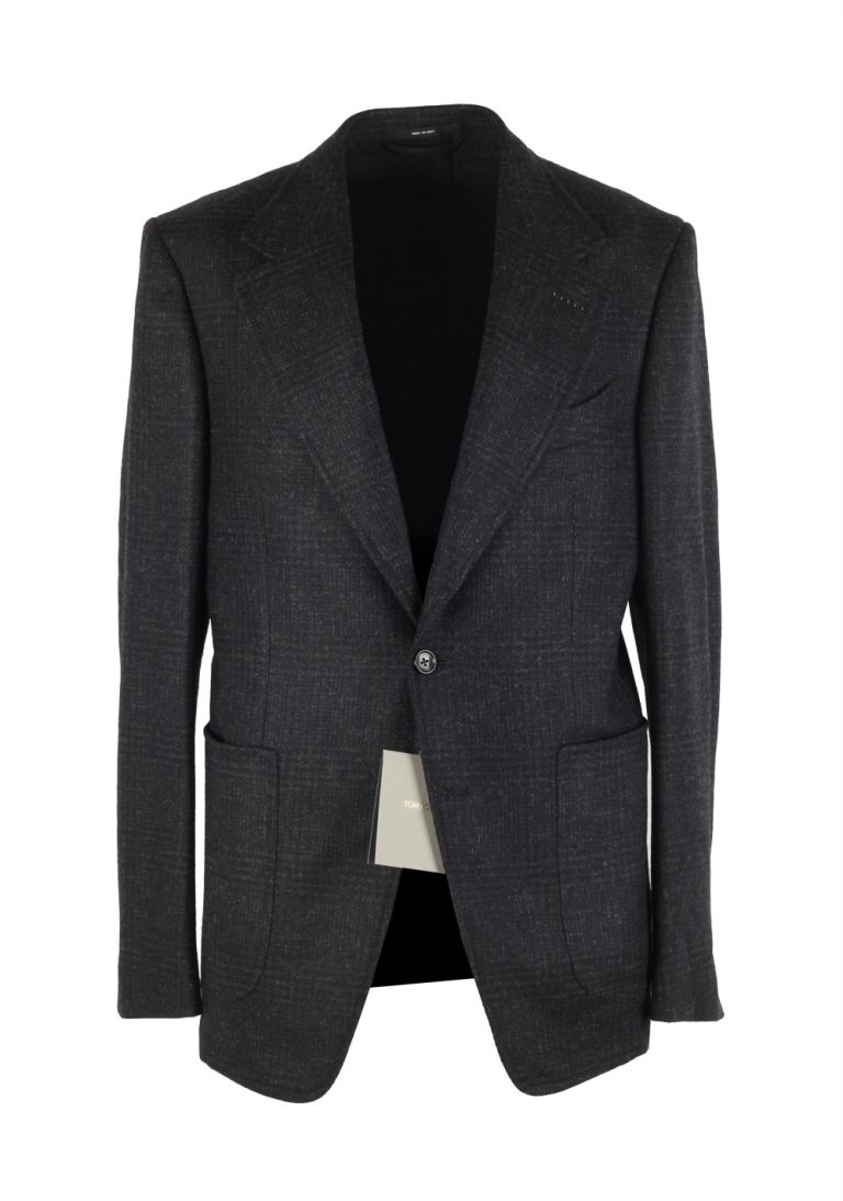 TOM FORD Shelton Checked Gray Sport Coat Size 48 / 38R U.S. In Wool - thumbnail | Costume Limité