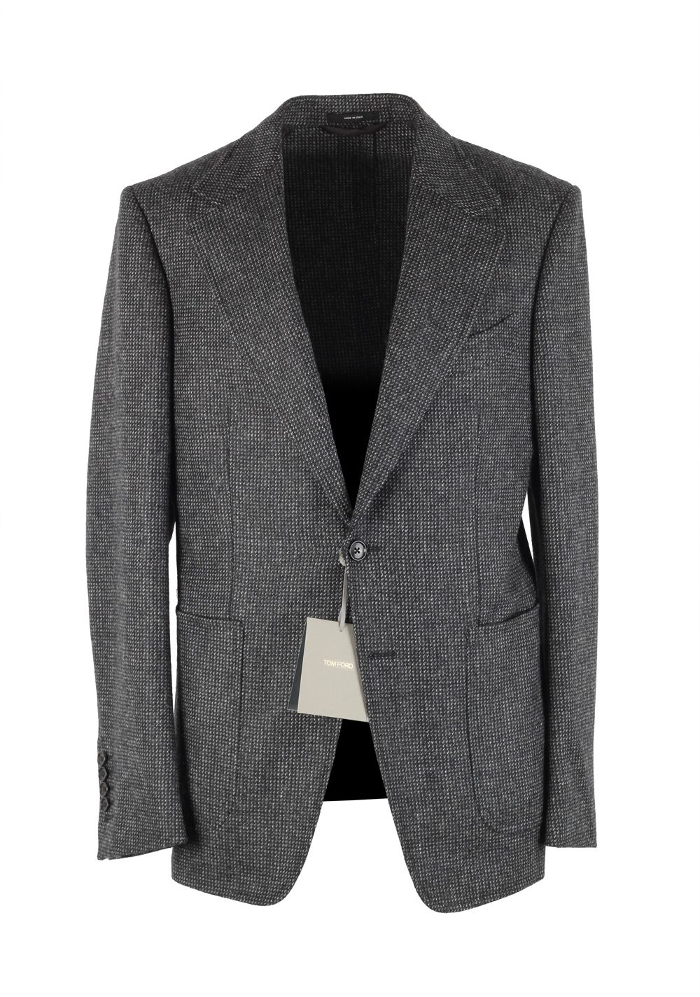 TOM FORD Shelton Gray Sport Coat Size 48 / 38R U.S. In Wool | Costume Limité