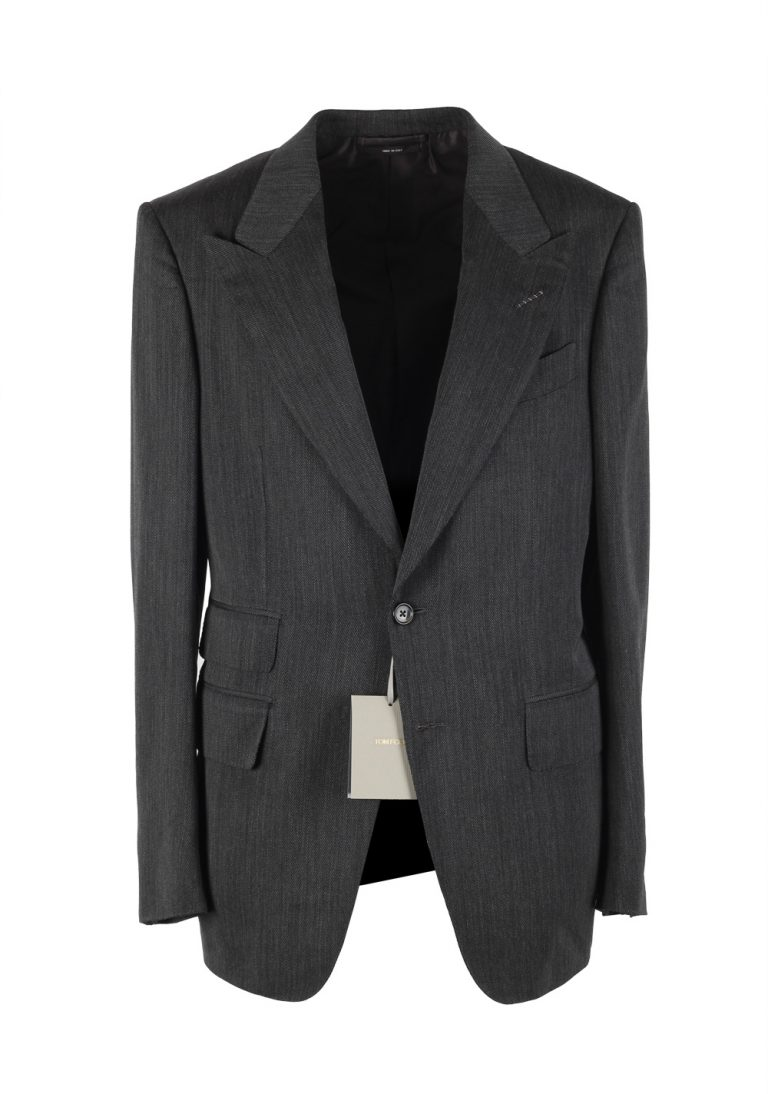 TOM FORD Shelton Gray Sport Coat Size 48 / 38R U.S. In Wool - thumbnail | Costume Limité