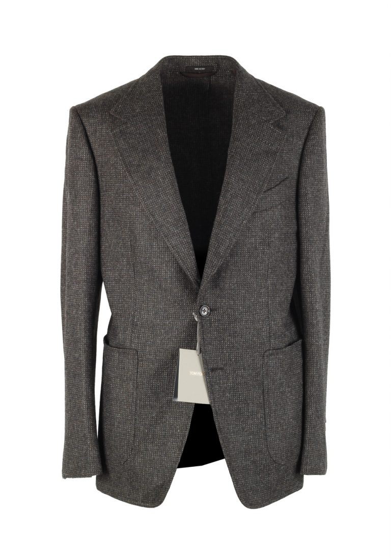 TOM FORD Shelton Brownish Gray Sport Coat Size 48 / 38R U.S. In Wool - thumbnail | Costume Limité