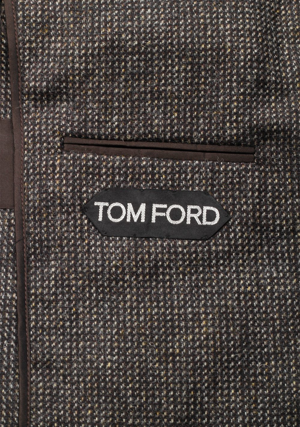TOM FORD Shelton Brownish Gray Sport Coat Size 48 / 38R U.S. In Wool | Costume Limité
