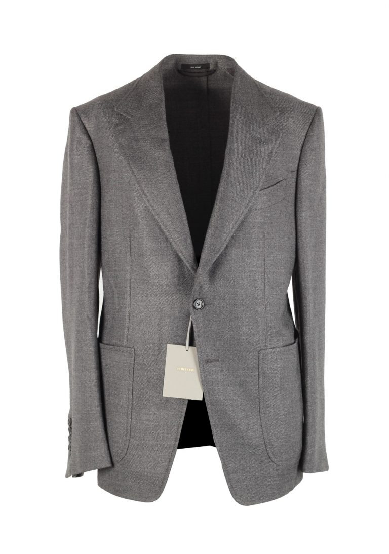 TOM FORD Shelton Gray Sport Coat Size 48 / 38R U.S. In Wool Blend - thumbnail | Costume Limité