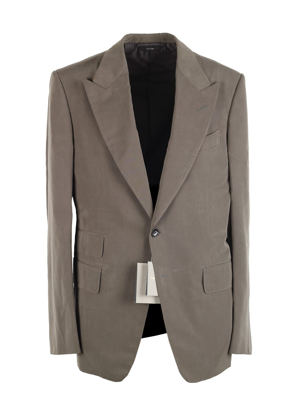 TOM FORD Shelton Gray Suit Size 48 / 38R U.S. In Silk   Costume Limité