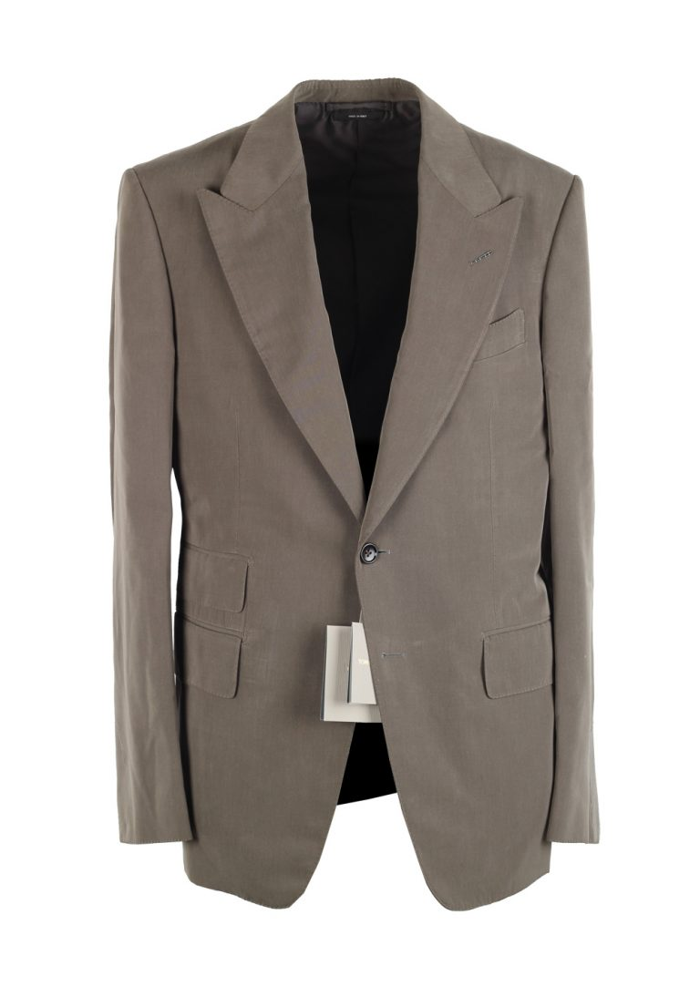 TOM FORD Shelton Gray Suit Size 48 / 38R U.S. In Silk - thumbnail | Costume Limité