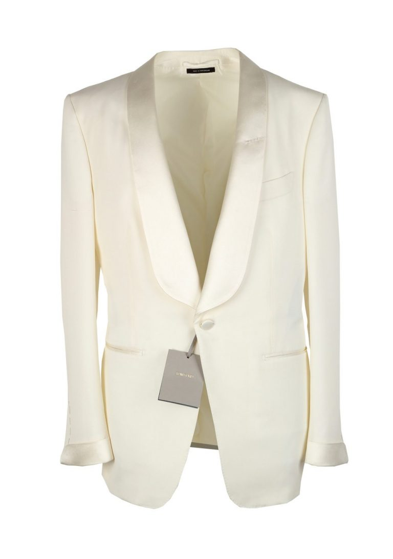 TOM FORD O'Connor Shawl Collar Ivory Sport Coat Tuxedo Dinner Jacket Size 50C / 40S U.S. Fit Y - thumbnail | Costume Limité