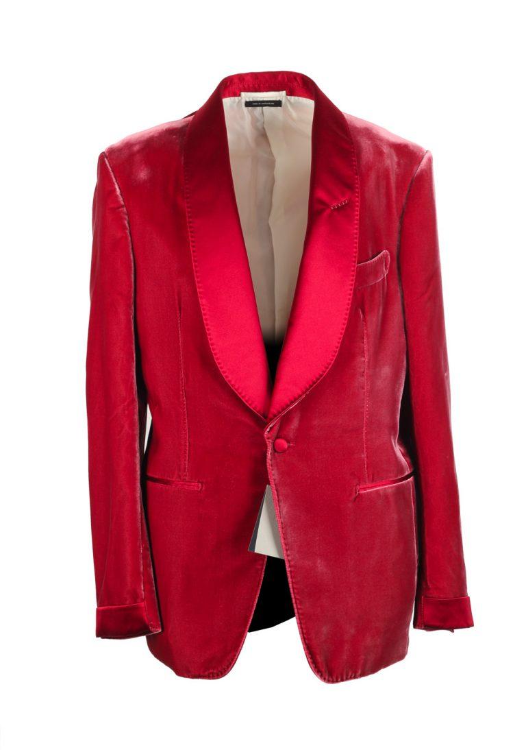 Shelton Shawl Collar Velvet Red Sport Coat Tuxedo Dinner Jacket Size Size 50 / 40R U.S. - thumbnail | Costume Limité
