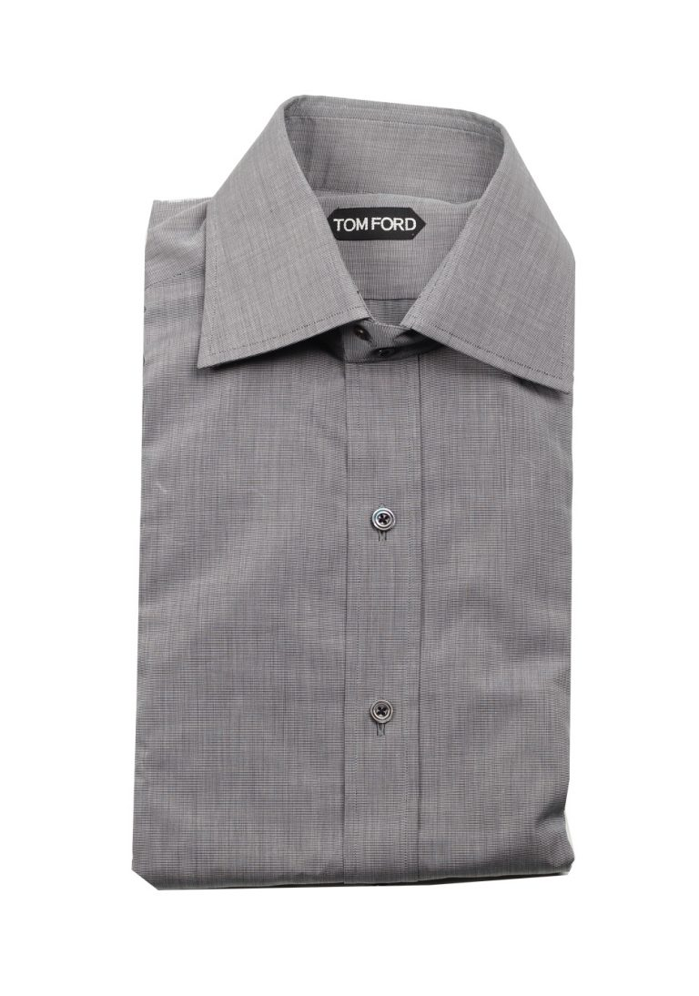TOM FORD Gray Dress Shirt Size 44 / 17.5 U.S. - thumbnail | Costume Limité