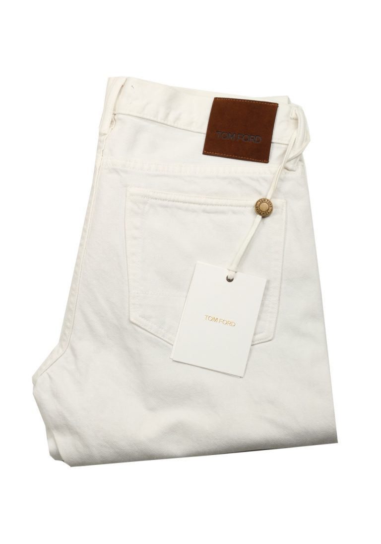 TOM FORD Slim Off White Jeans TFD001 Size 54 / 38 U.S. - thumbnail | Costume Limité