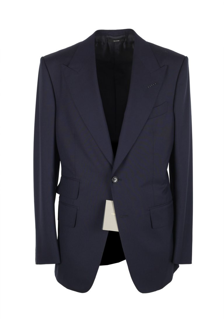 TOM FORD Windsor Solid Blue Suit Size 46 / 36R U.S. Wool Fit A - thumbnail | Costume Limité