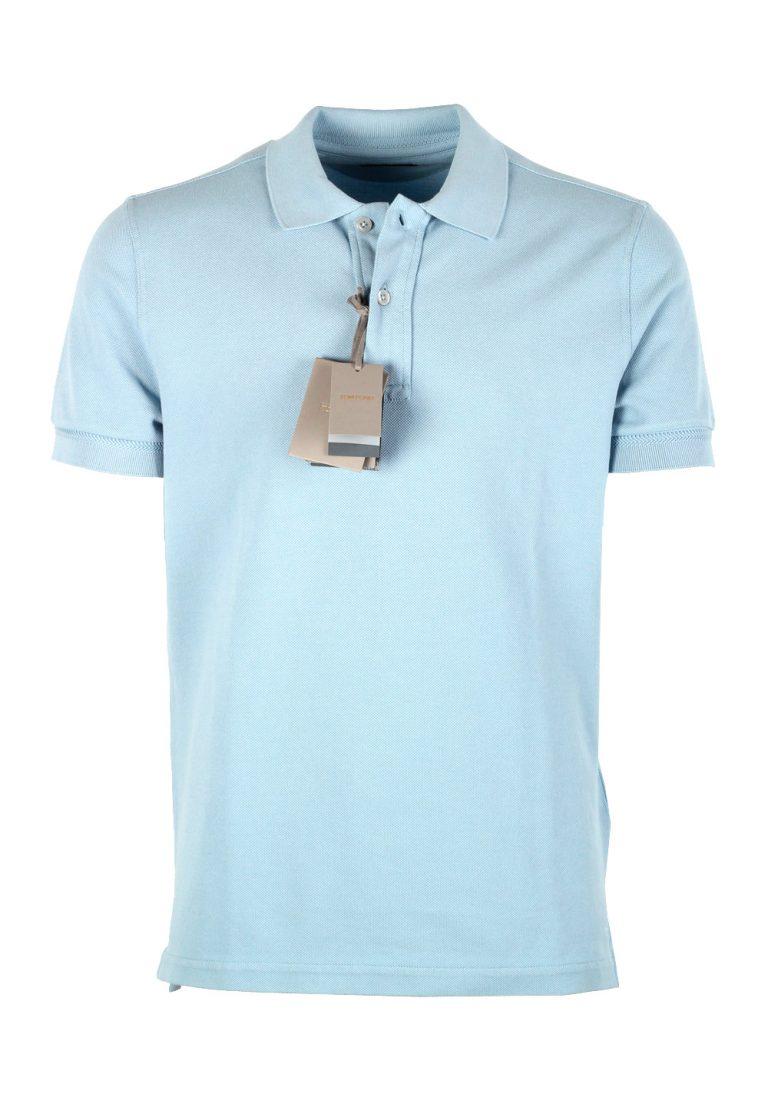 TOM FORD Blue Short Sleeve Polo Shirt Size 52 / 42R U.S. - thumbnail | Costume Limité
